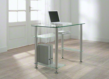Computertafel Laptop - glas + aluminium